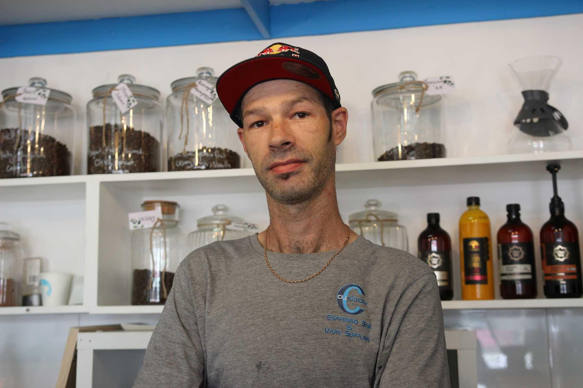 Coffs Harbour's Luke Graham runs Cloud City Coffee and Vape.