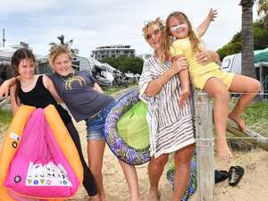 Residents ditch homes for caravan parks for Xmas