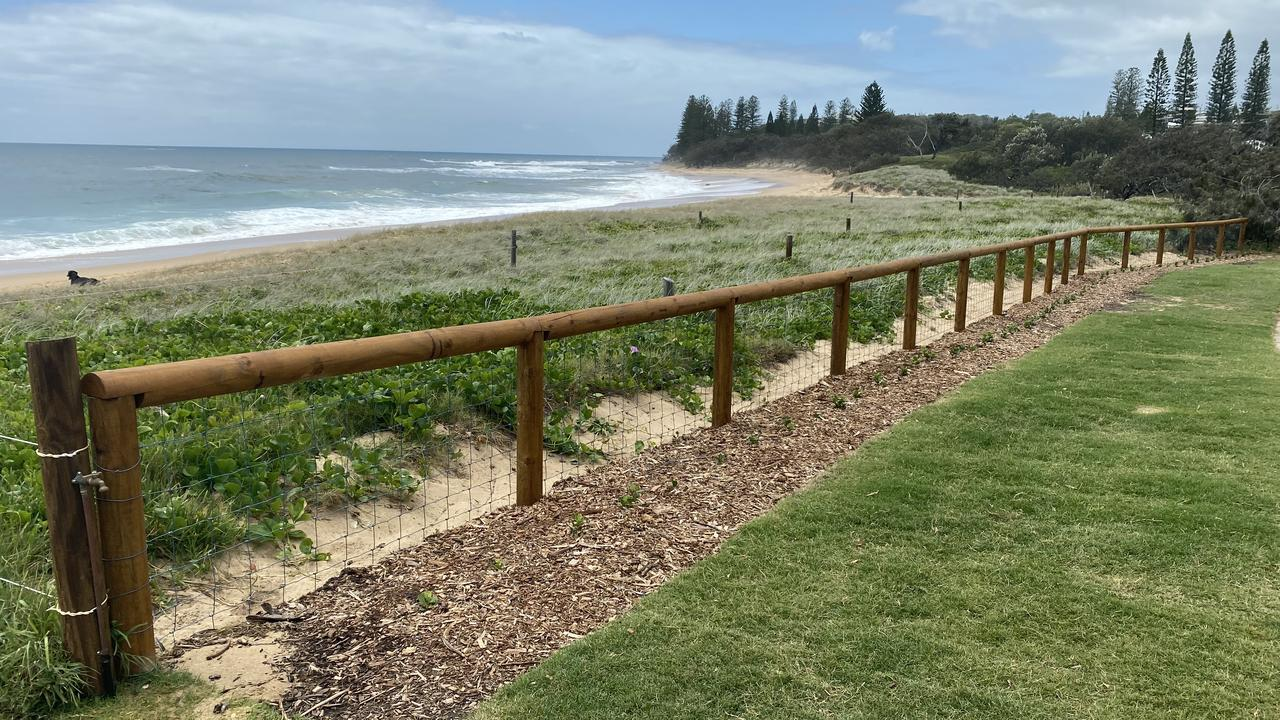 Council recently installed then removed shade cloths on the fences at Shelly Beach, which were designed to protect turtles