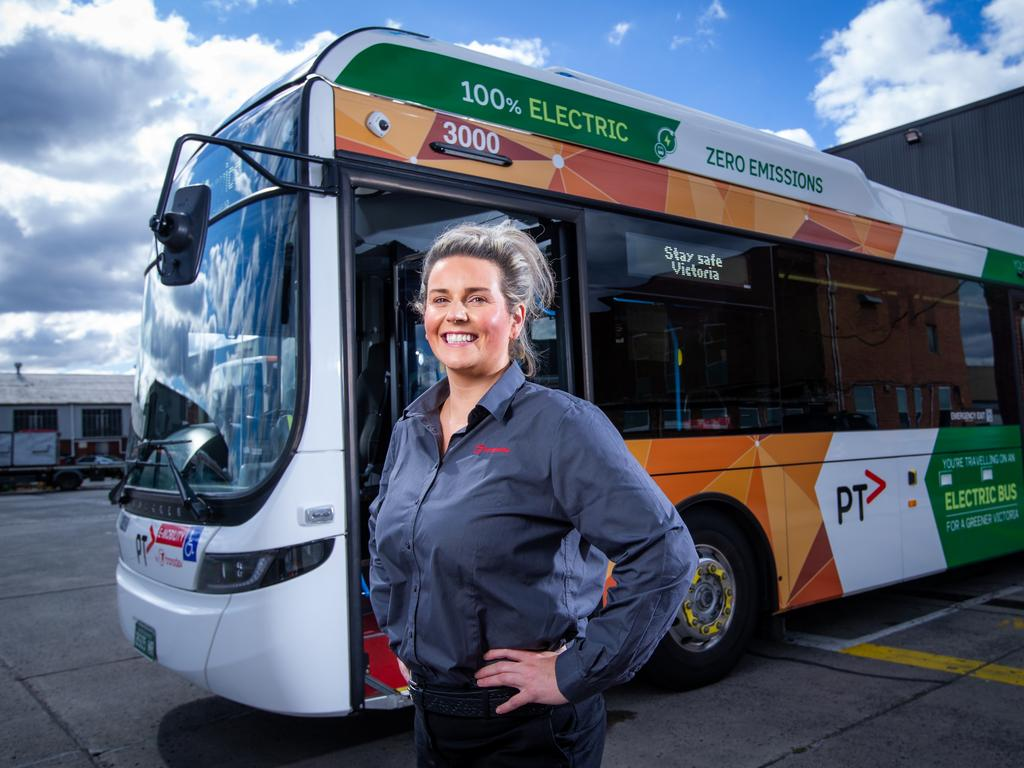 Pru Rayner has made a career change into bus driving. Picture: Supplied