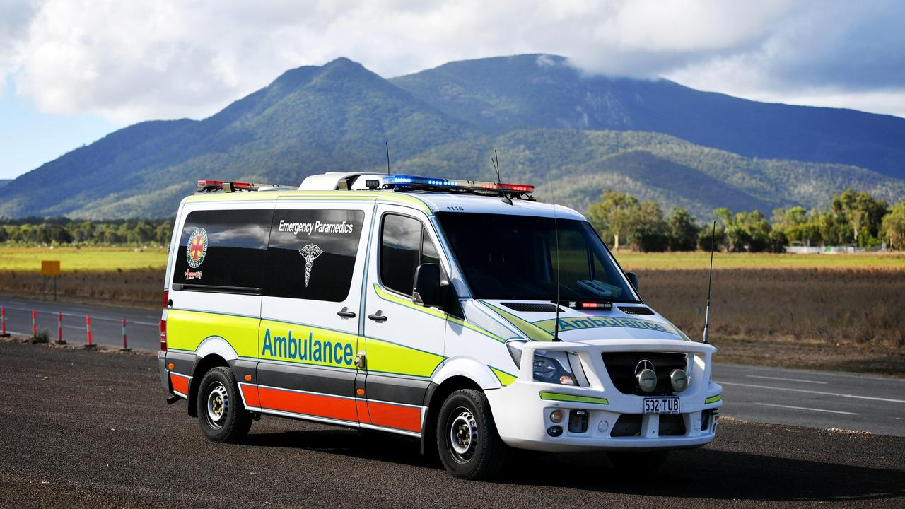 A 35-year-old man was taken to Gympie Hospital in a stable condition after he veered off the road west of Gympie last night. Picture: Alix Sweeney
