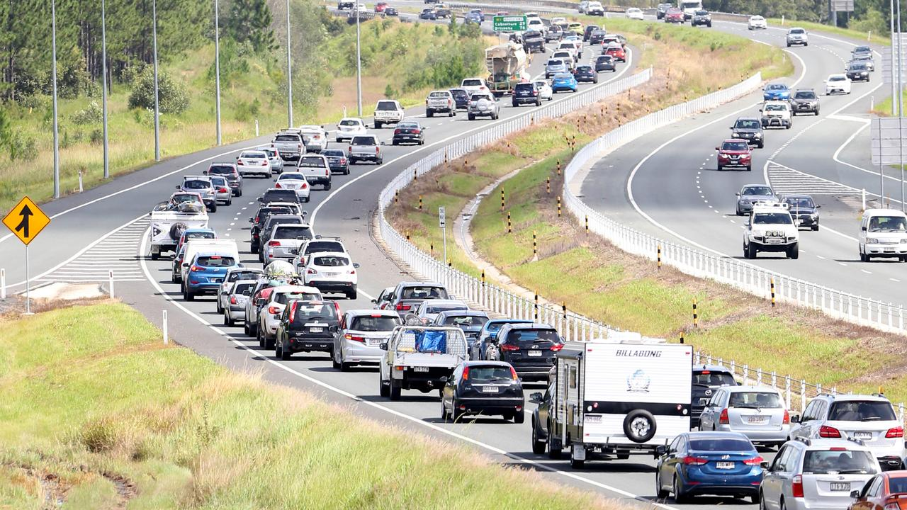 A familiar site: Holiday traffic on the Bruce Hwy returning to Brisbane after the Easter long weekend. Picture: Ric Frearson