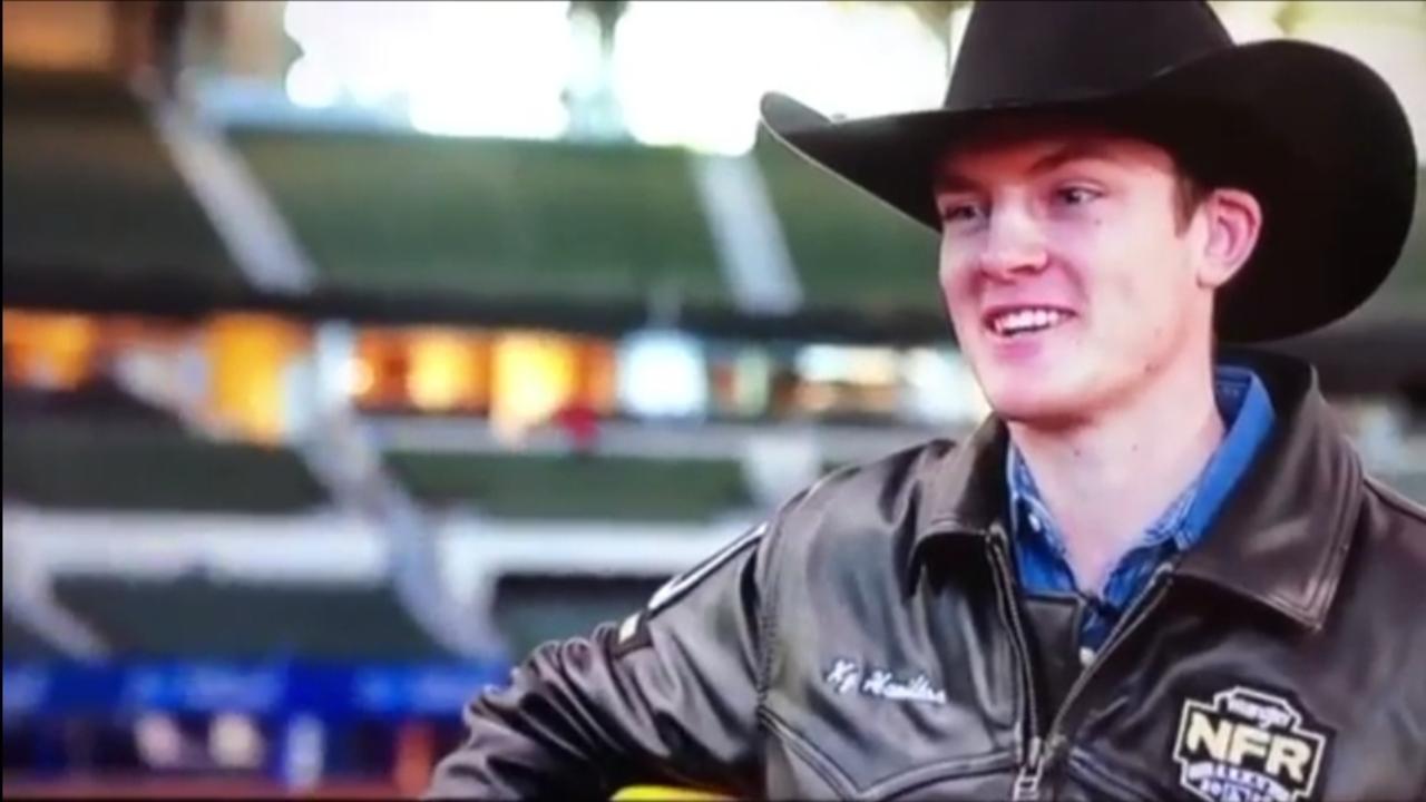 Mackay bull riding prodigy Ky Hamilton.