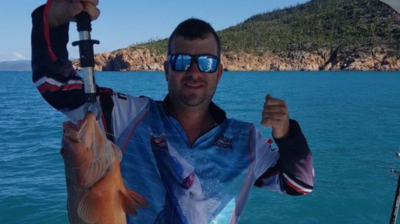 Brad Roberts with a coral trout caught around Gloucester.