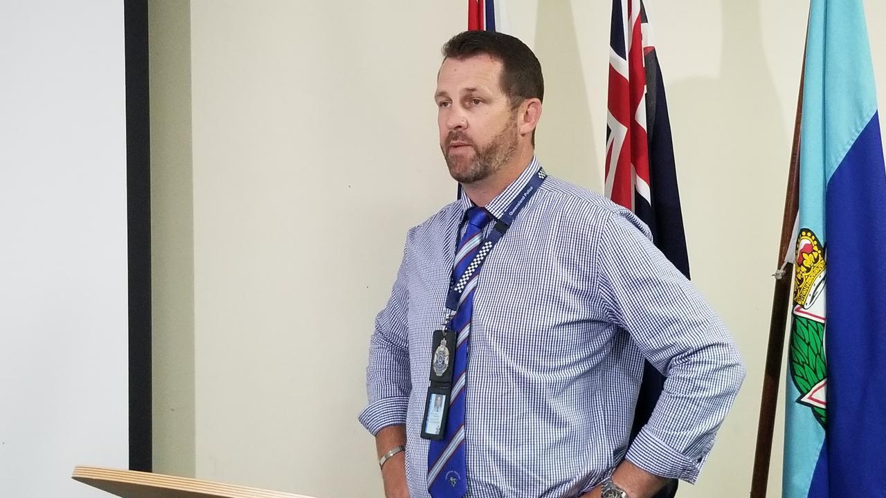 Detective Senior Sergeant Luke Peachey on Thursday.
