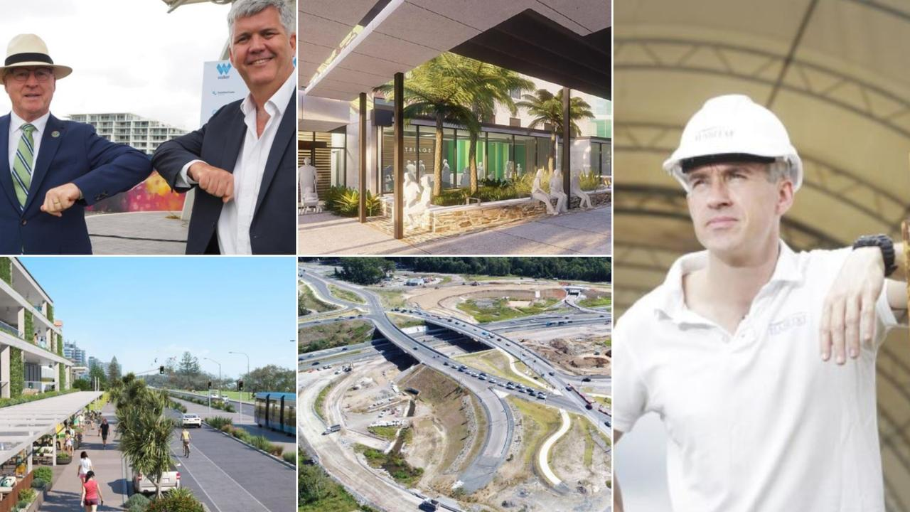 Major projects to watch in 2021 from top left: Walker Corporation's involvement in Maroochydore City Centre, Nambour General Hospital upgrade, Habitat Development Cleighton Clark's Maroochydore City Centre projects, the mass transit plan and Bruce Hwy upgrades.