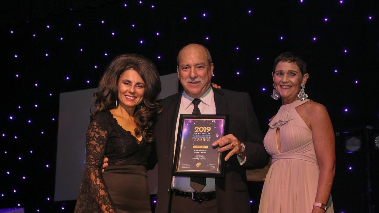 Mayor's Award winner Greg Steffens at the 2019 Lockyer Valley Business, Training and Apprenticeship Awards