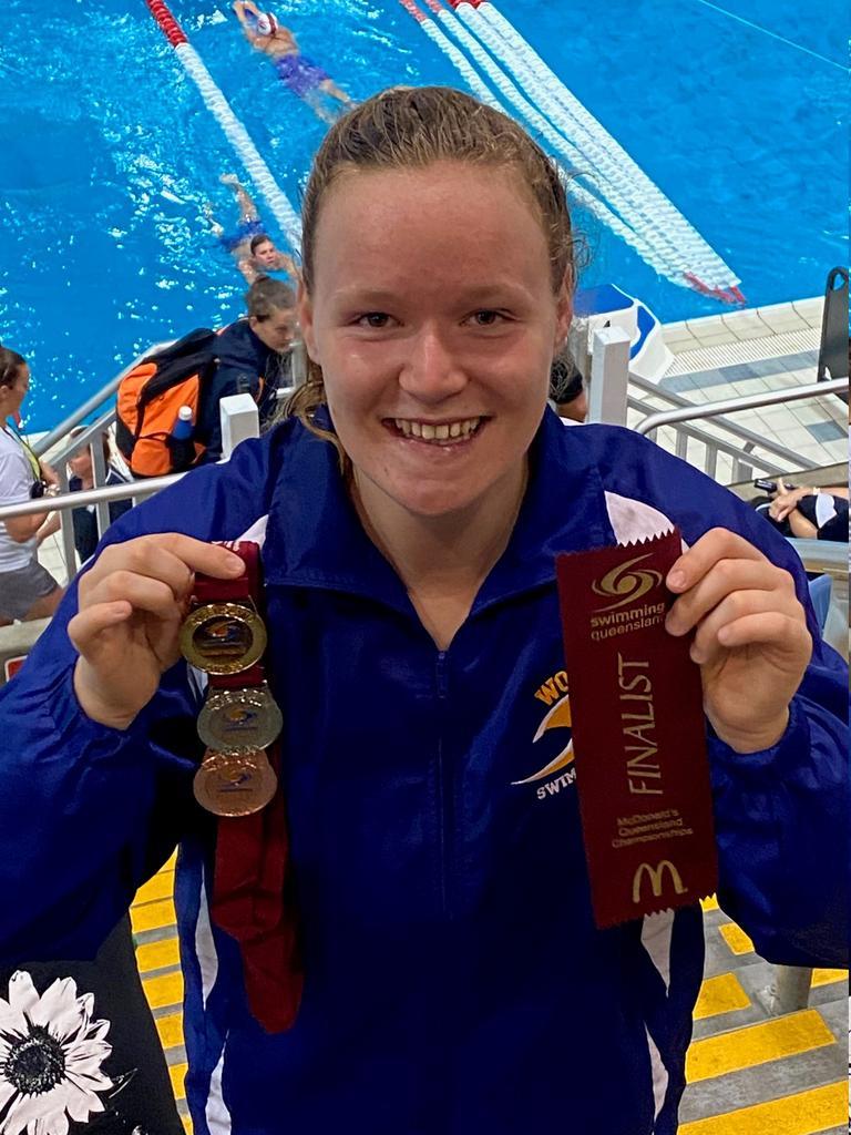 Woogaroo medal-winning swimmer Poppy Wilson