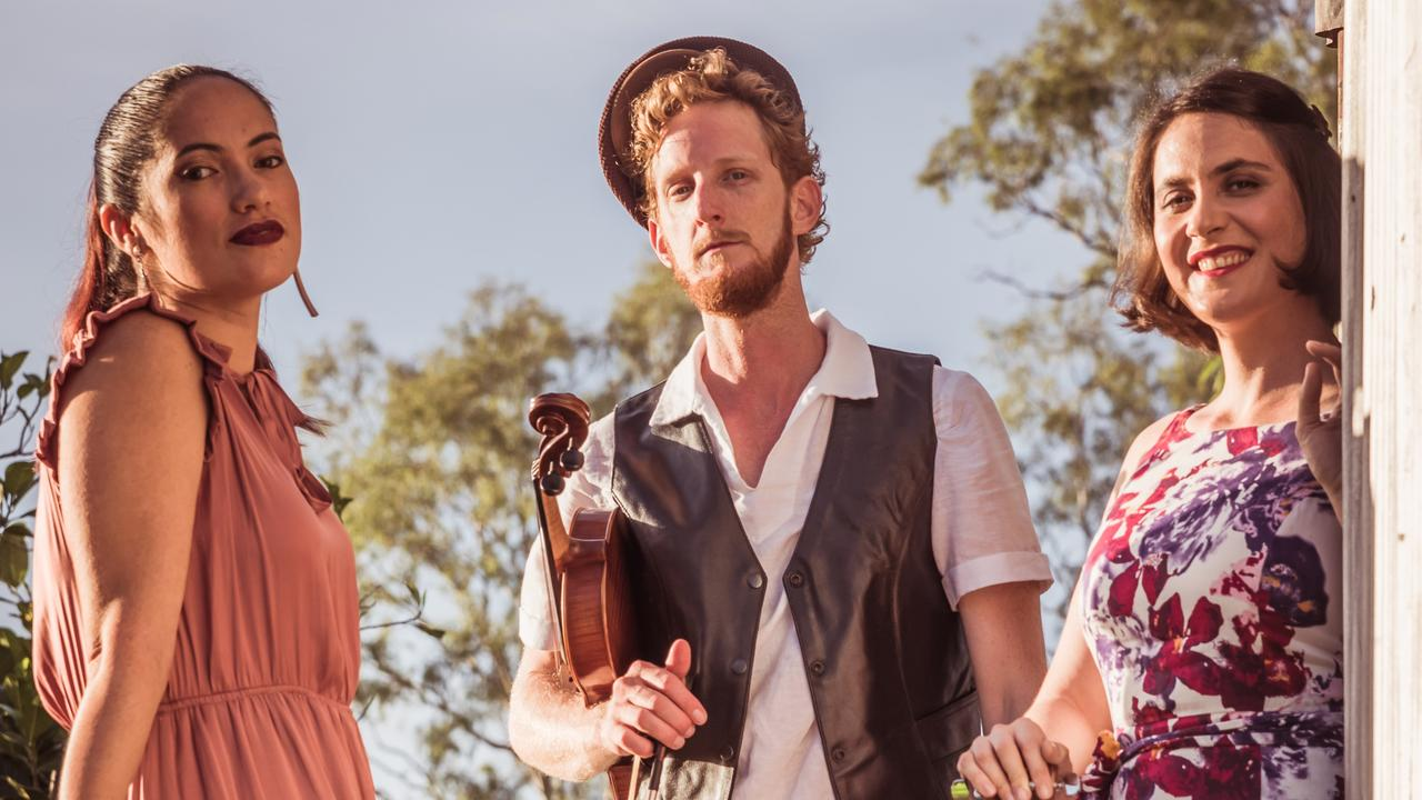 Classical, folk and pop trio Folks Like Us will be performing on the night. Picture: Contributed