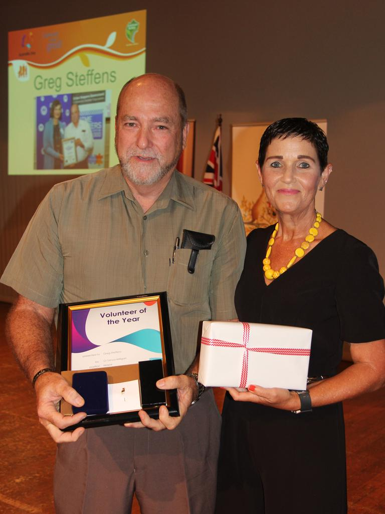 Greg Steffens accepted the Volunteer of the Year Award for his work with Gatton Crimestoppers at the 2018 Lockyer Valley Regional Council Australia Day Awards.
