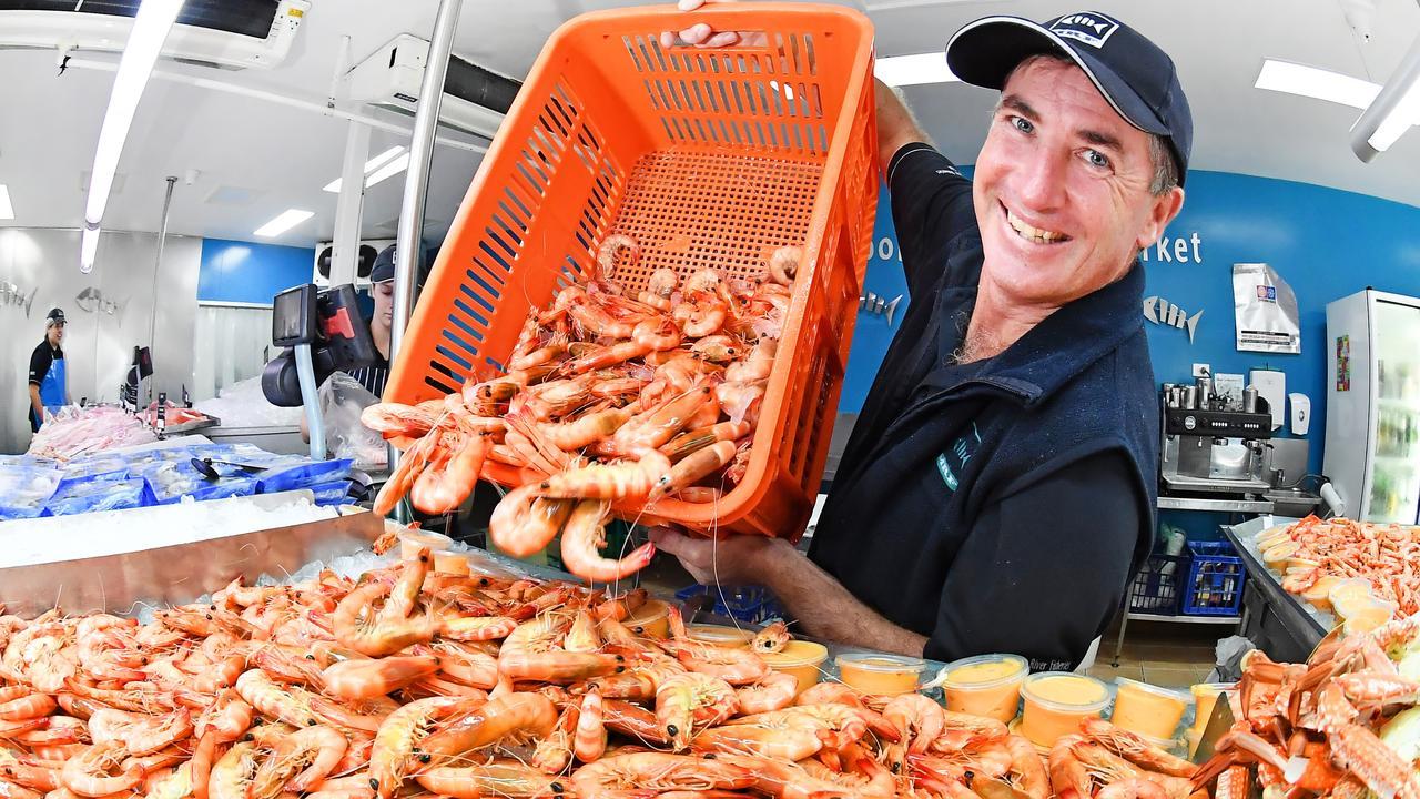Mooloolaba Fish Market manager Kristian Penny said Coast residents had bought 20 tonnes of prawns leading up to Christmas. Photo Patrick Woods.