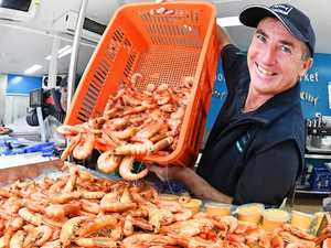 Christmas rush: Seafood lovers queue for 20 tonnes of prawns