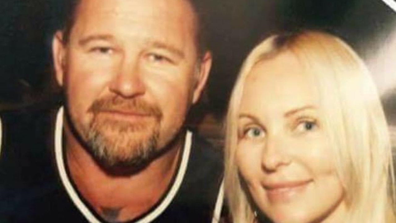 Just as the funeral for a slain Rebels bikie was held, one brazen robber stole $20,000 allegedly belonging to his widow.