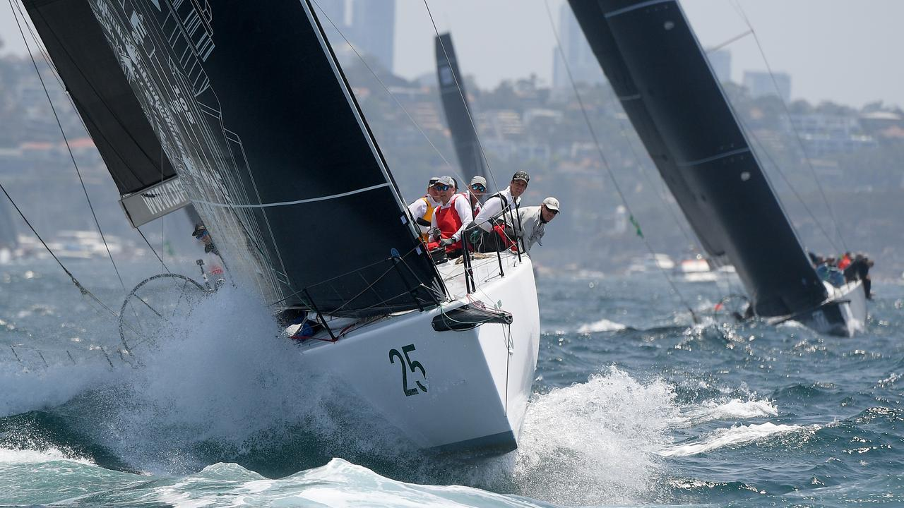 Zen at the start of last year's Sydney to Hobart yacht race.