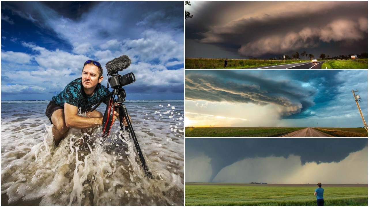 He's faced a mile-wide tornado in the US and lives for Queensland's storm season. Justin Noonan explains what it's like to be an extreme weather chaser.