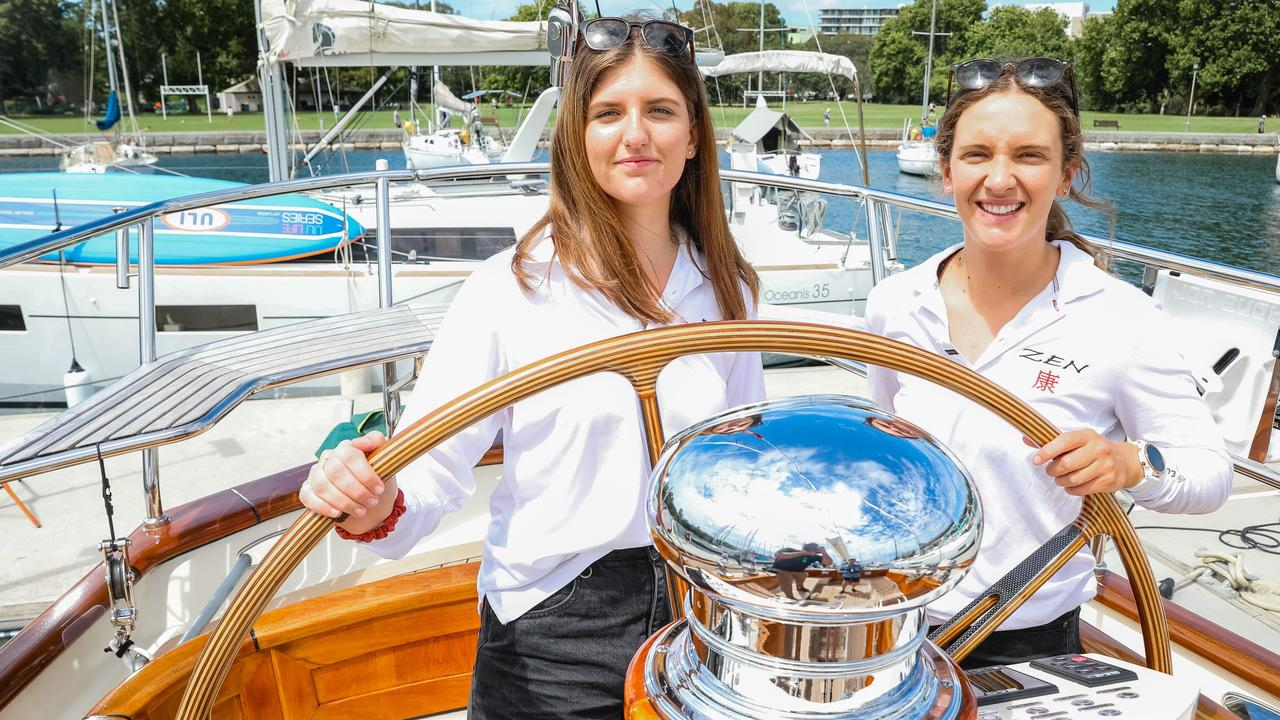 Sisters Juliet and Clare Costanzo will both be doing their first Sydney to Hobart this year.