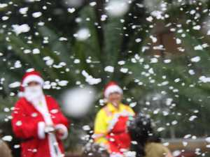 PHOTOS: Snow as Santa celebrate Christmas Eve in Lismore
