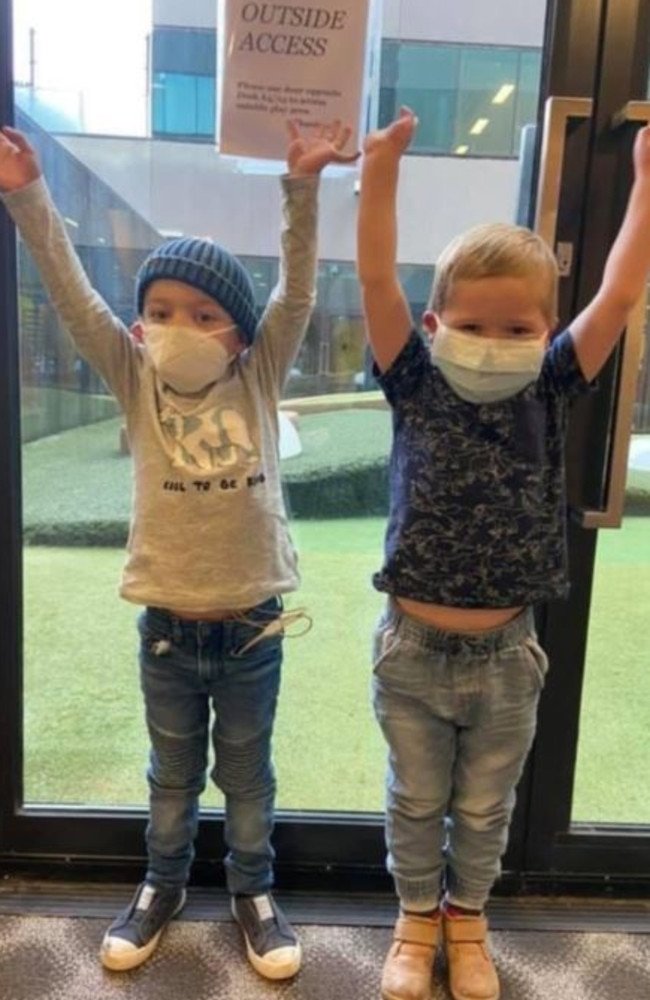 Best friends William and Kye, 5, both have hypoplastic left heart syndrome. Picture: GoFundMe