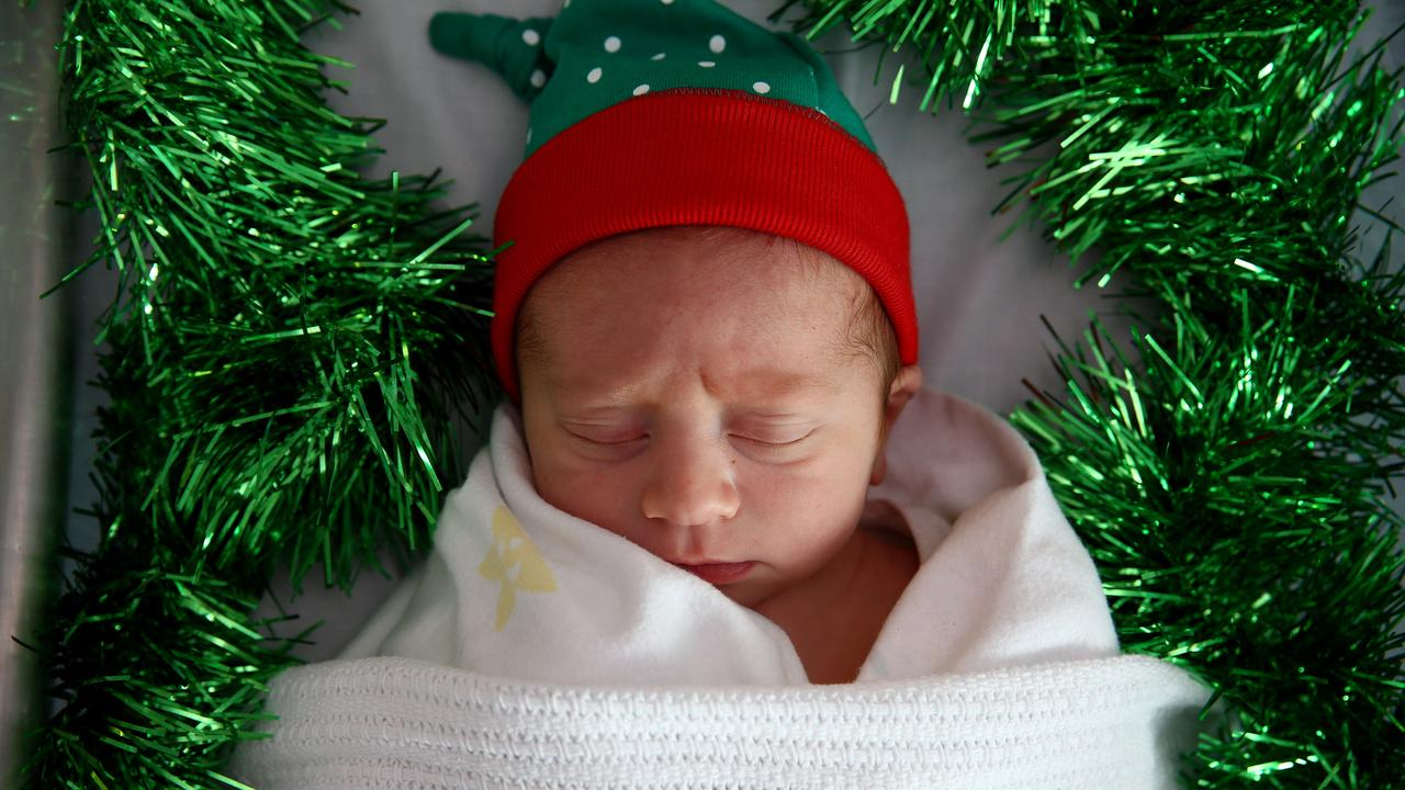 Born at 12.12am on Christmas morning, little Arlyn Oscar Long is one very special baby.
