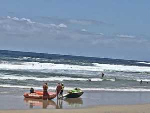 Beachgoers struggle in rough conditions over Christmas break