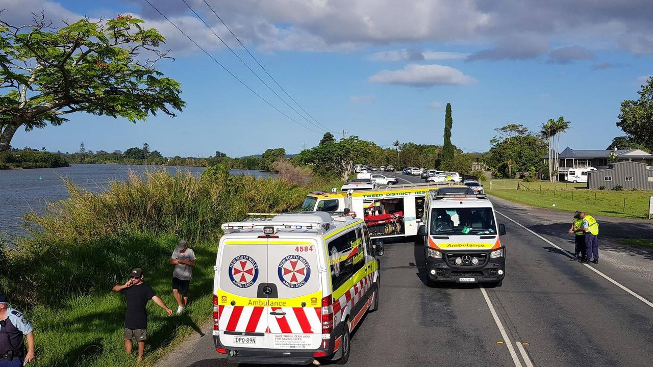 CHRISTMAS DAY RESCUE: Emergency services attend a serious two vehicle collision on Tweed Valley Way on Christmas Day. Photo: Tweed District Rescue Squad