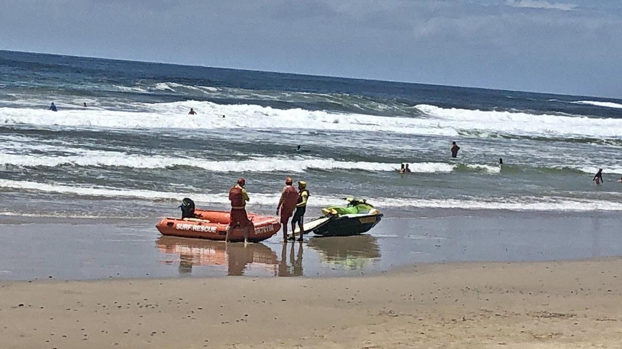 MULTIPLE RESCUES: Surf Lifesaving FNC lifesavers and lifeguards conducted around successful 30 rescues on Christmas Day, 2020, including one which involved five people at Sharps Beach north of Ballina.