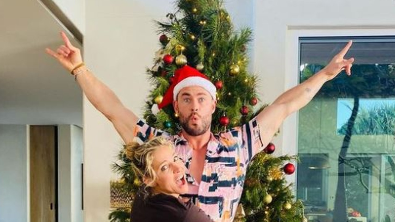 The Hemsworth siblings shared a glimpse into their Christmas festivities but it was one photo in particular that sent fans into a spin.