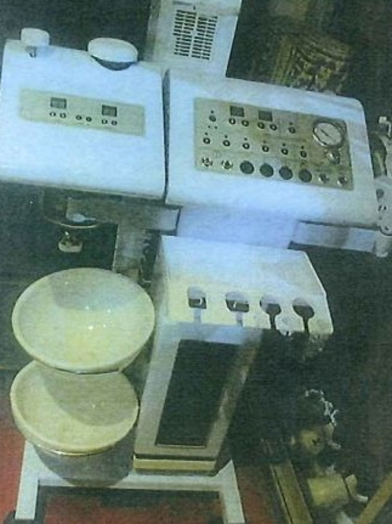 This machine, located in the kitchenette, used steam to remove pimples, investigators were allegedly told. Picture: Supplied