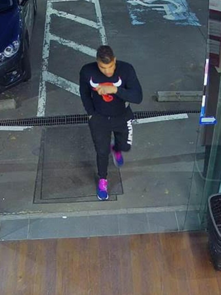 Kerry Giakoumis was spotted on CCTV before his death.
