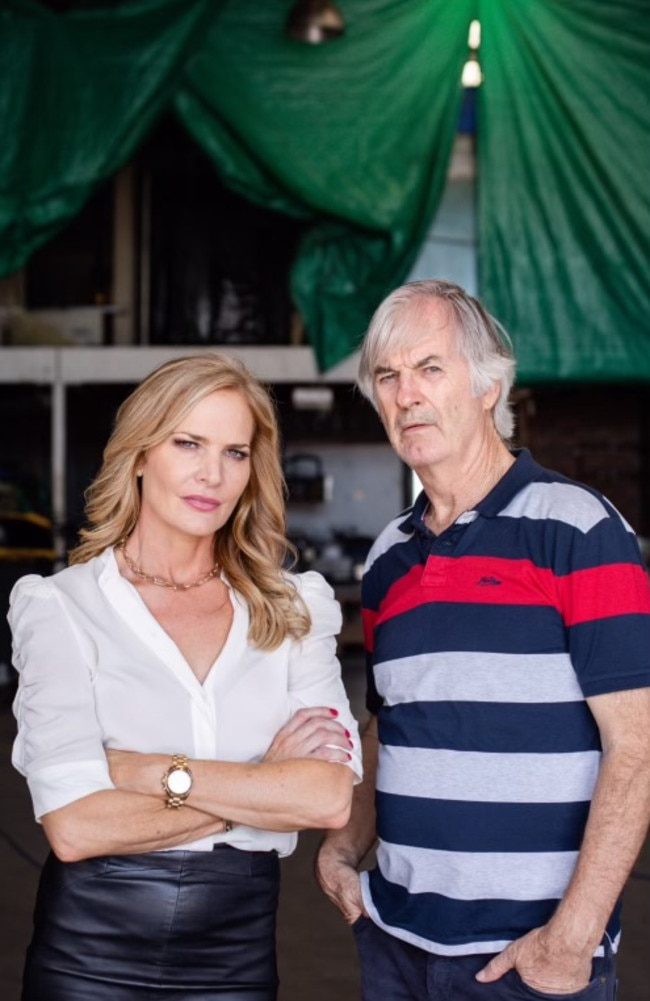 Erin Connor and John Jarratt for Double or Nothing. Picture: Supplied