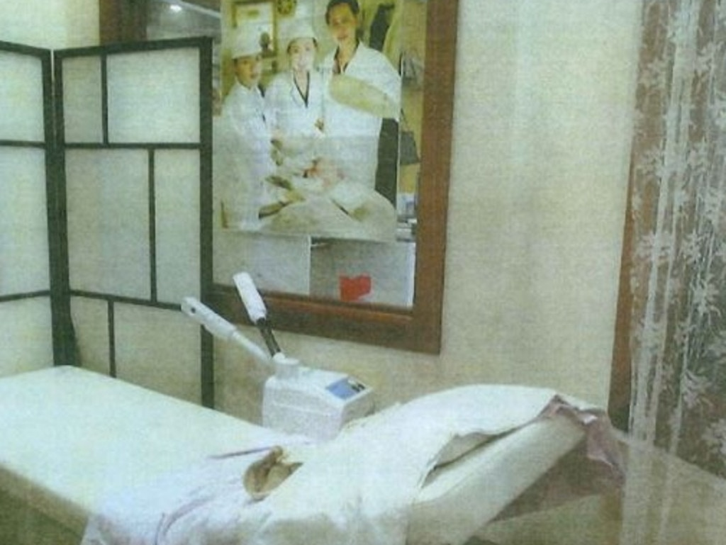 Sonoun Kimlee Salon had a back room where it allegedly carried out procedures. Picture: Supplied