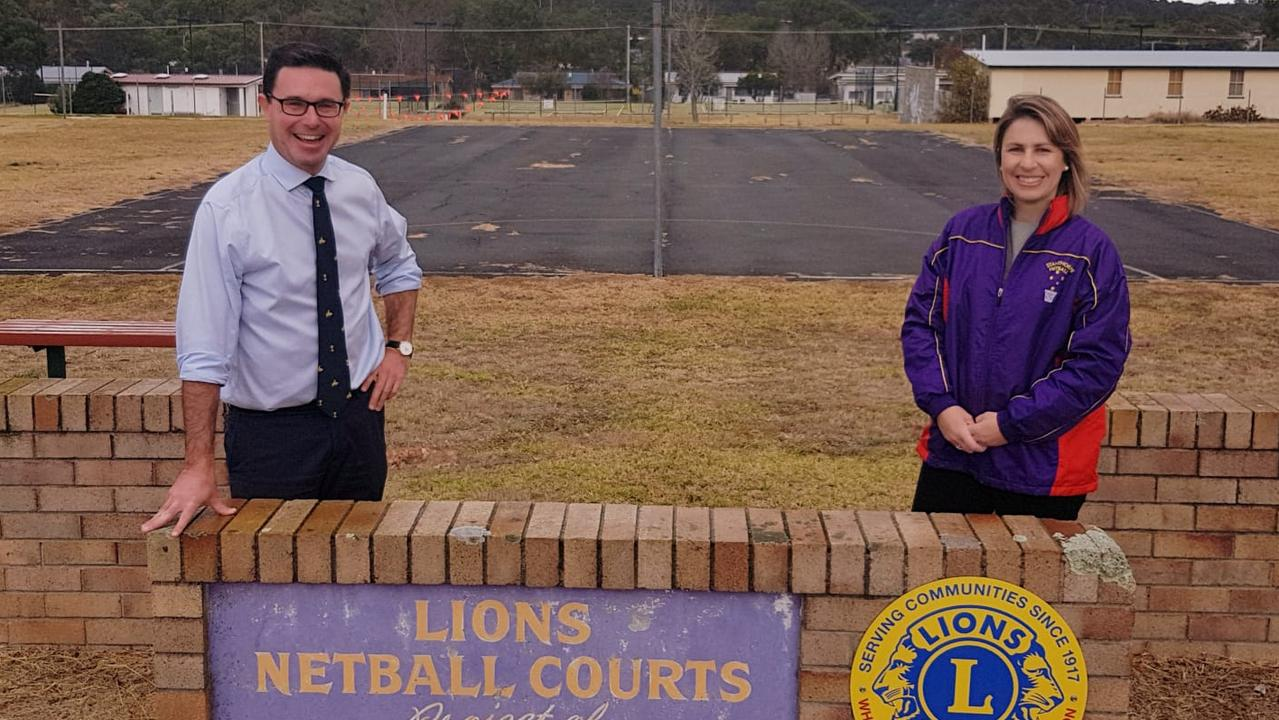 GRANTS OPENING: Maranoa MP David Littleproud with Stanthorpe Netball Association President Natalie Vedelago.