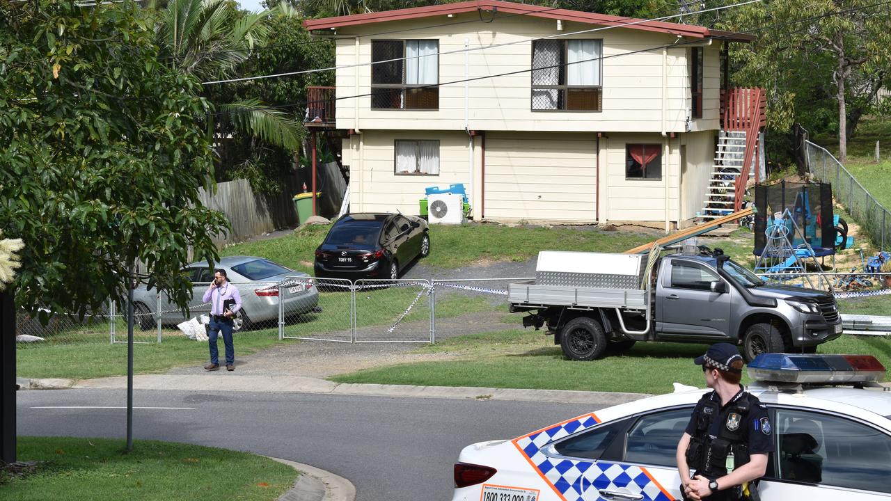 Police investigations continue at the Hall St residence in North Ipswich.