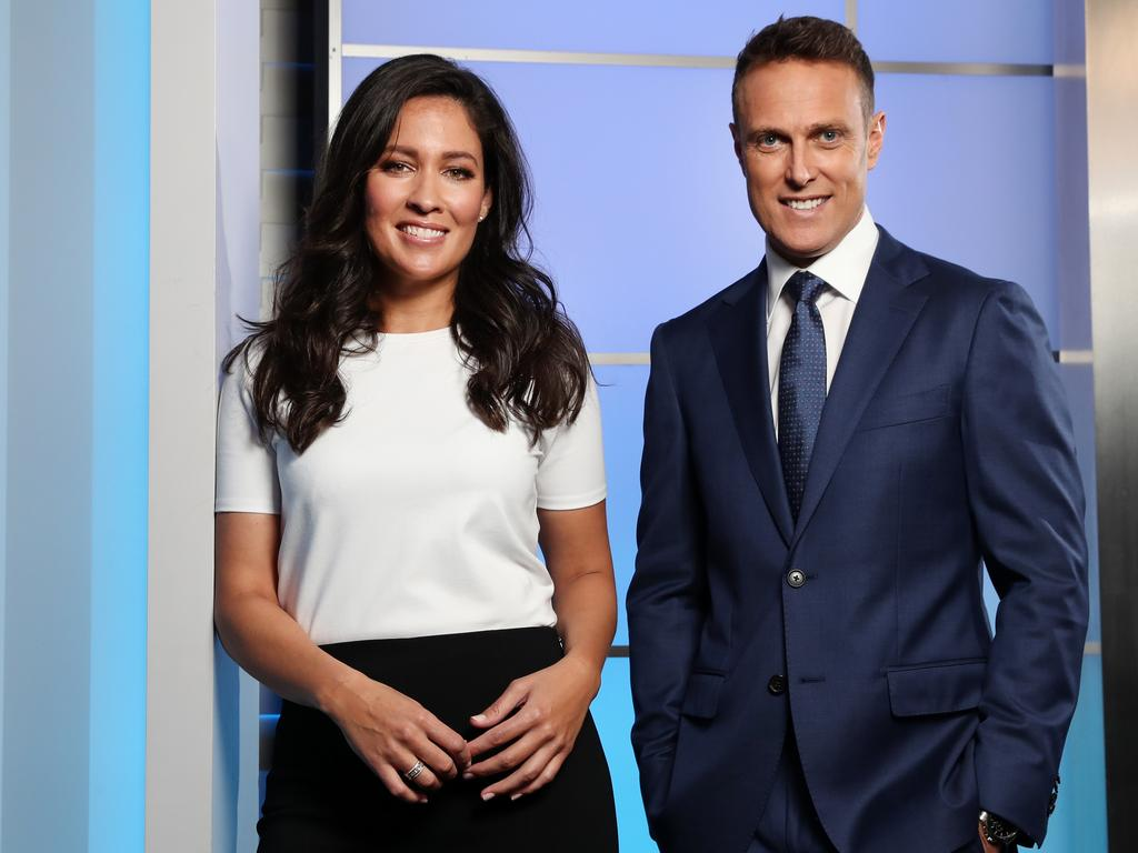 Matt Shirvington lost his spot at Fox Sports but partnered with Mel McLaughlin on Channel 7 instead. Picture: Jonathan Ng