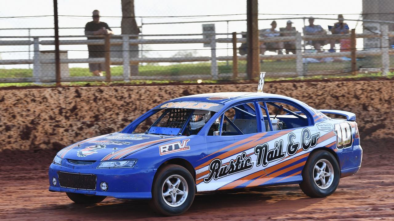 Maryborough Speedway Kurt Murdoch Classic for production sedans - Russell Cowley sporting Kurt Murdoch's number 35.Photo: Alistair Brightman