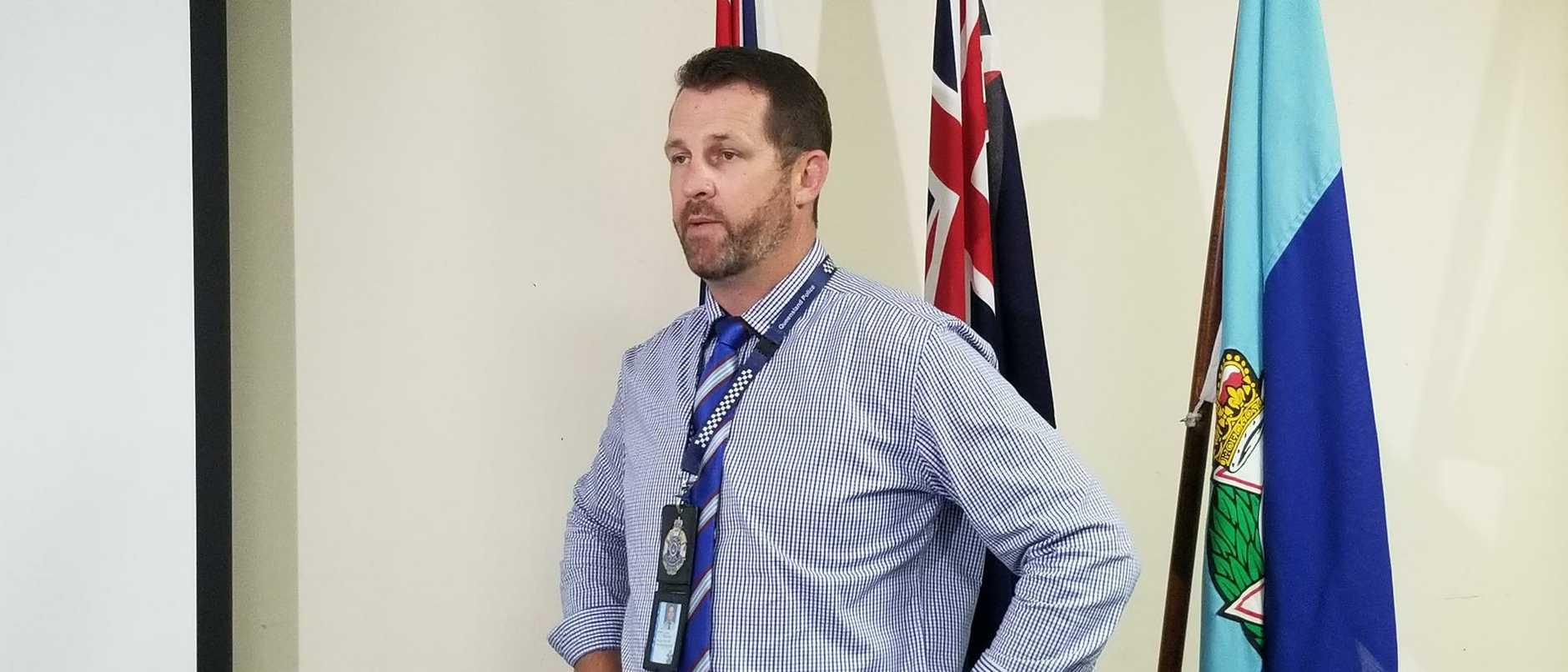 Detective Senior Sergeant Luke Peachey. Picture: Timothy Cox
