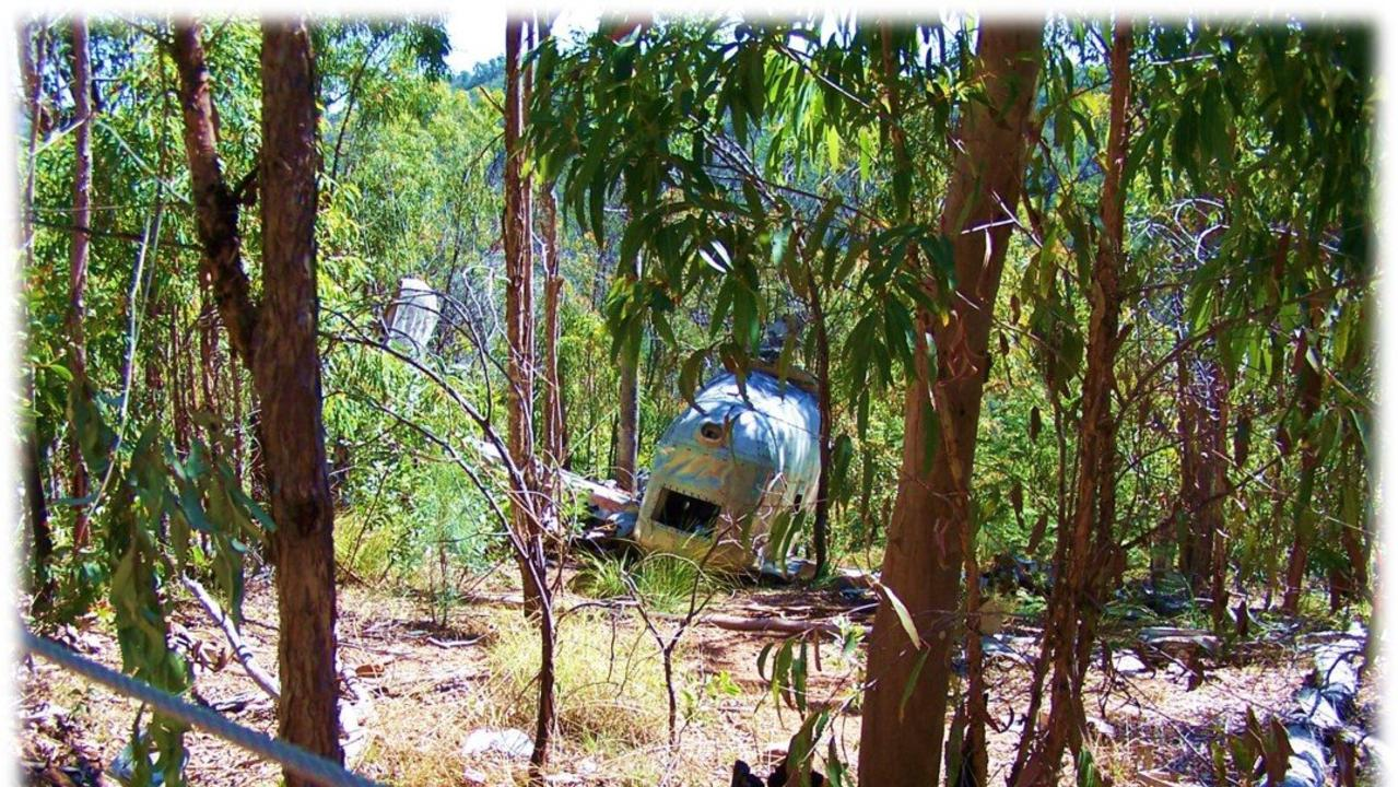 The remains of World War II Liberator Bomber 'Beautiful Betsy' at Kroombit Tops National Park.