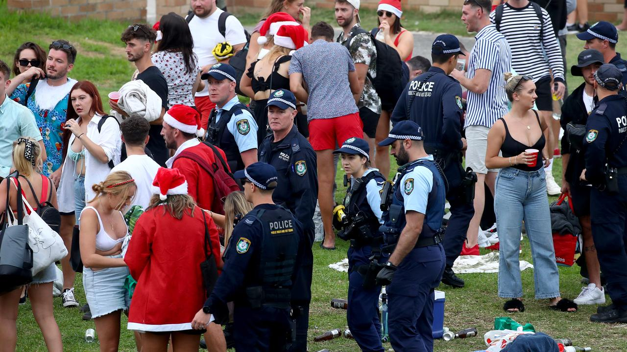 At the Sydney party, one man was charged. Picture: Toby Zerna