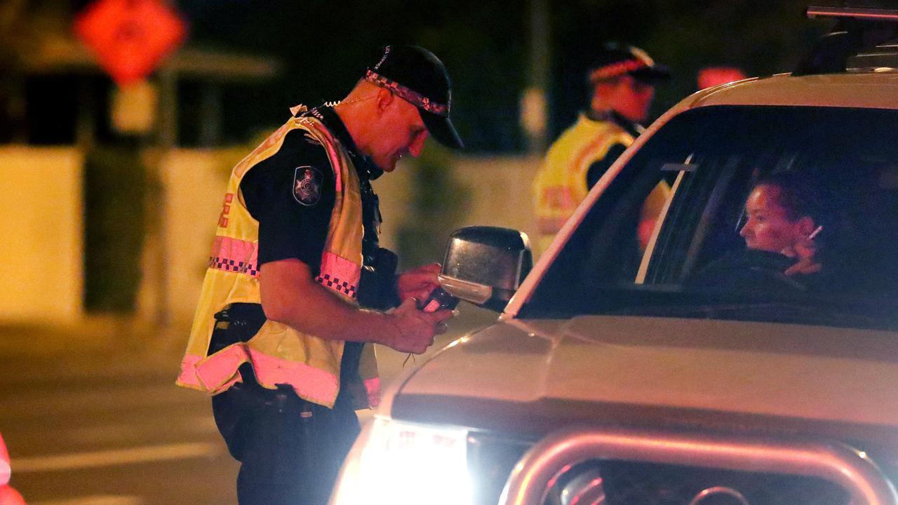 RBT Roadside Breath Test. Picture: Alix Sweeney