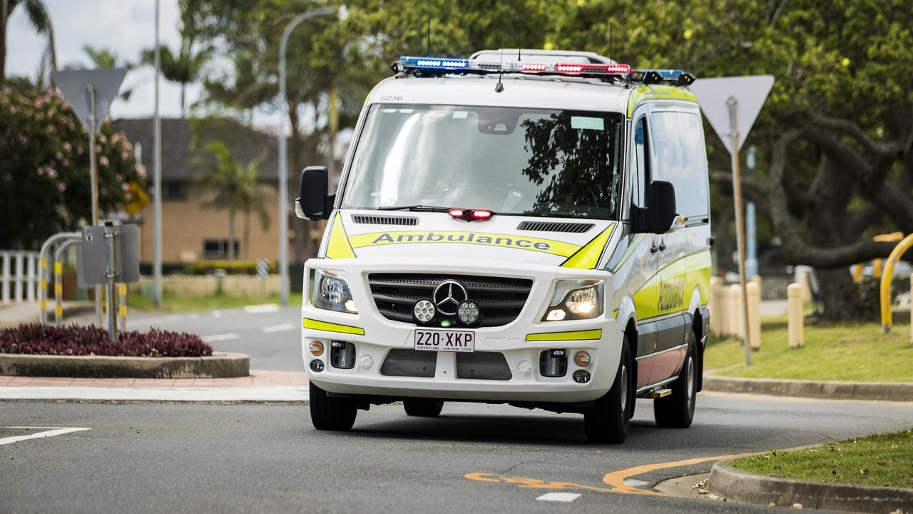 A bike rider is in a serious but stable condition after a crash in Caboolture on Sunday afternoon.