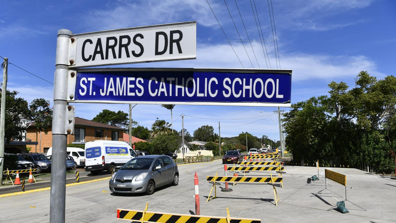 Carrs Drive roundabout work in Yamba - which will close the intersection over New Years