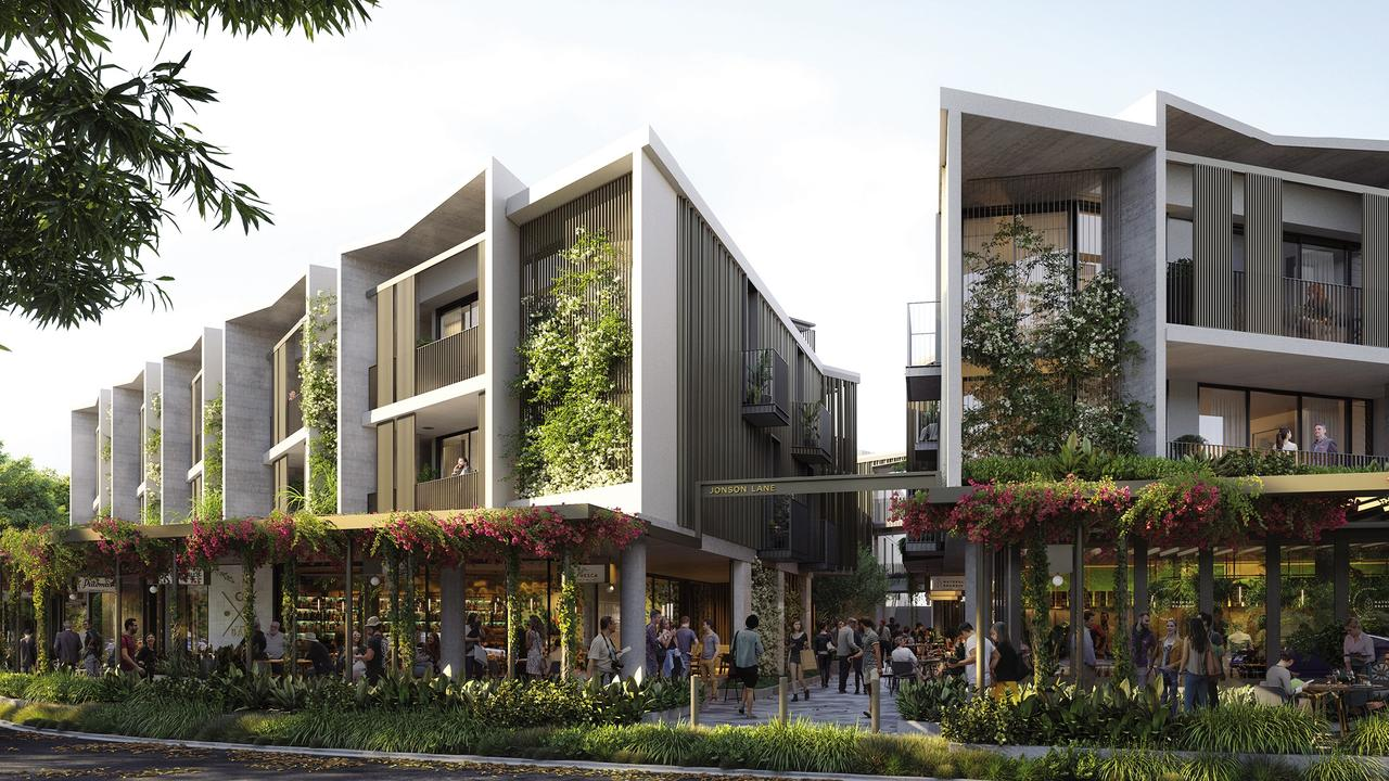 An artist's impression of the Jonson Lane development on the southern end of Jonson St, Byron Bay. It is now under construction.