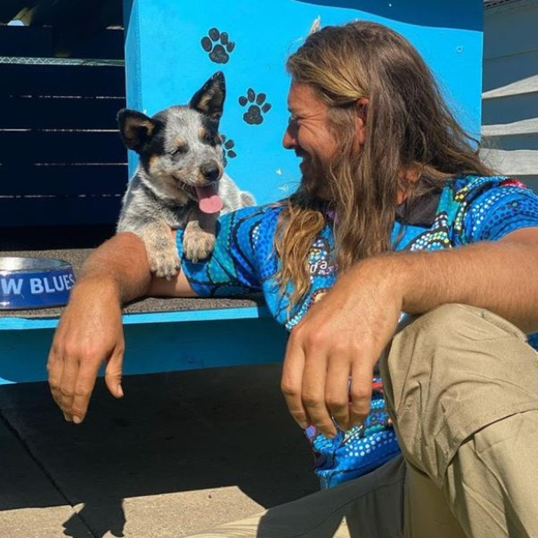He has gone on to become a successful international dog trainer. He was touring the US when the pandemic hit. Picture: Instagram/farmerdavek9m8