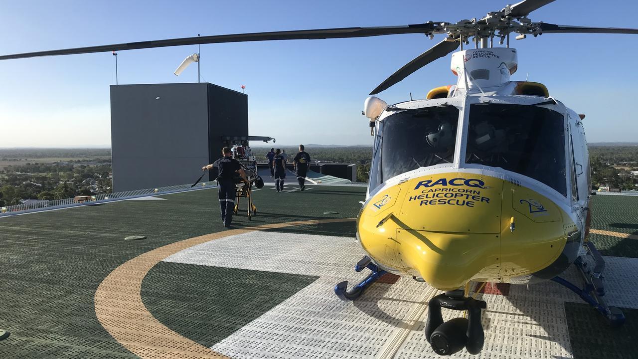 RACQ Capricorn Rescue attended the scene. Picture: RACQ Capricorn Rescue