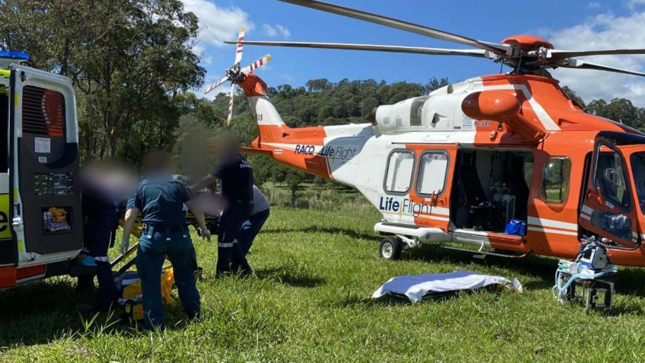 Lifeflight helicopter airlifts man after alleged assault at Amamoor