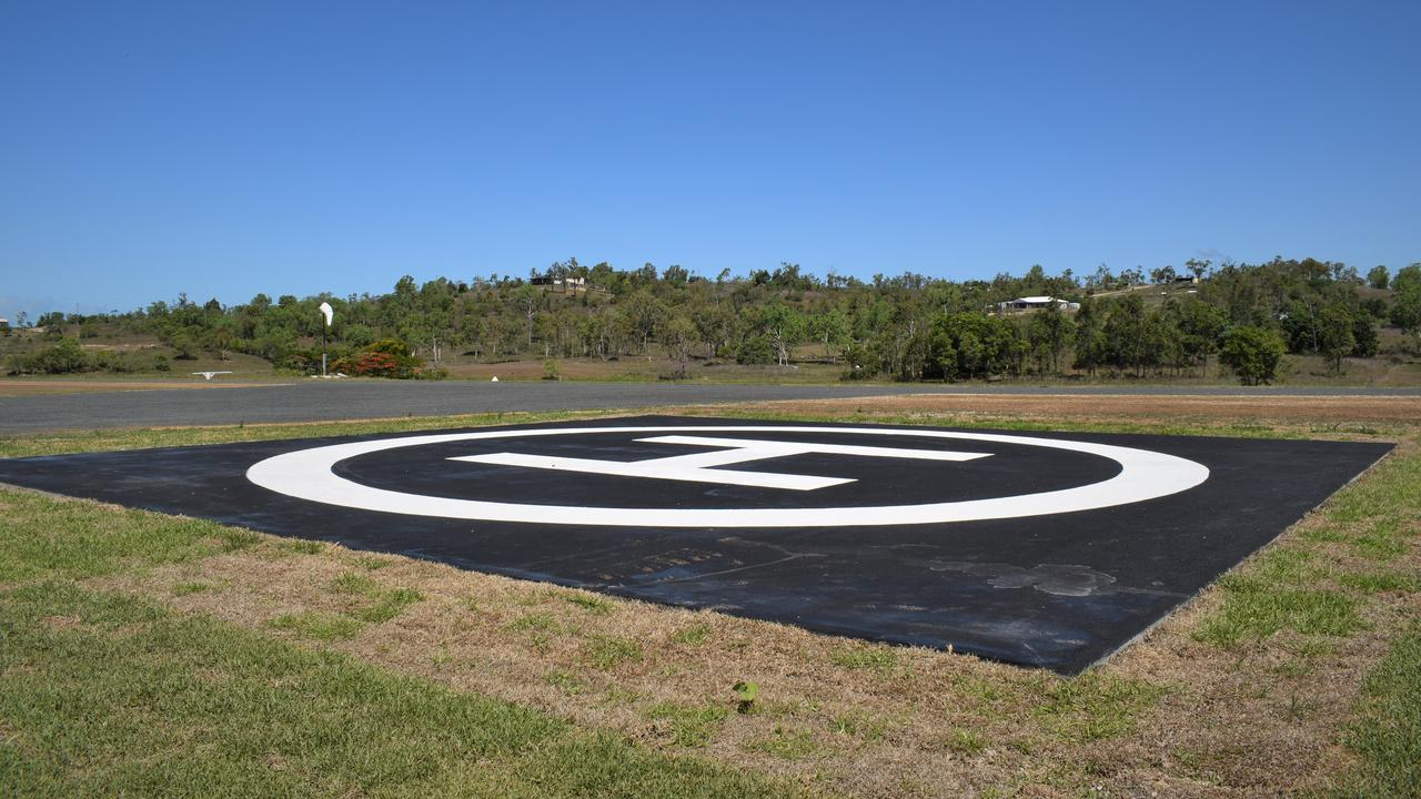The helipad at the Whitsunday Park Estate. Mr Poole also keeps his own fire engine on standby should emergency services wish to use it. Picture: Heidi Petith