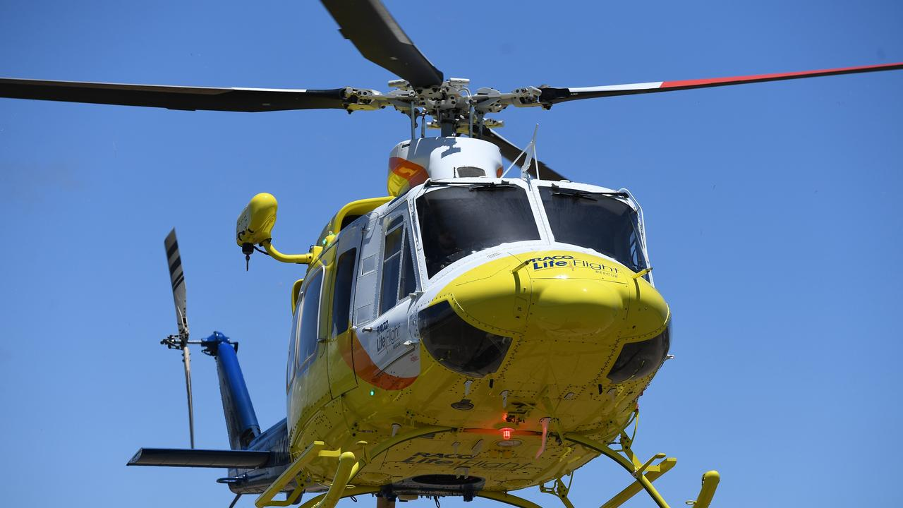CHRISTMAS TRAGEDY: The boy was transported via the rescue helicopter.