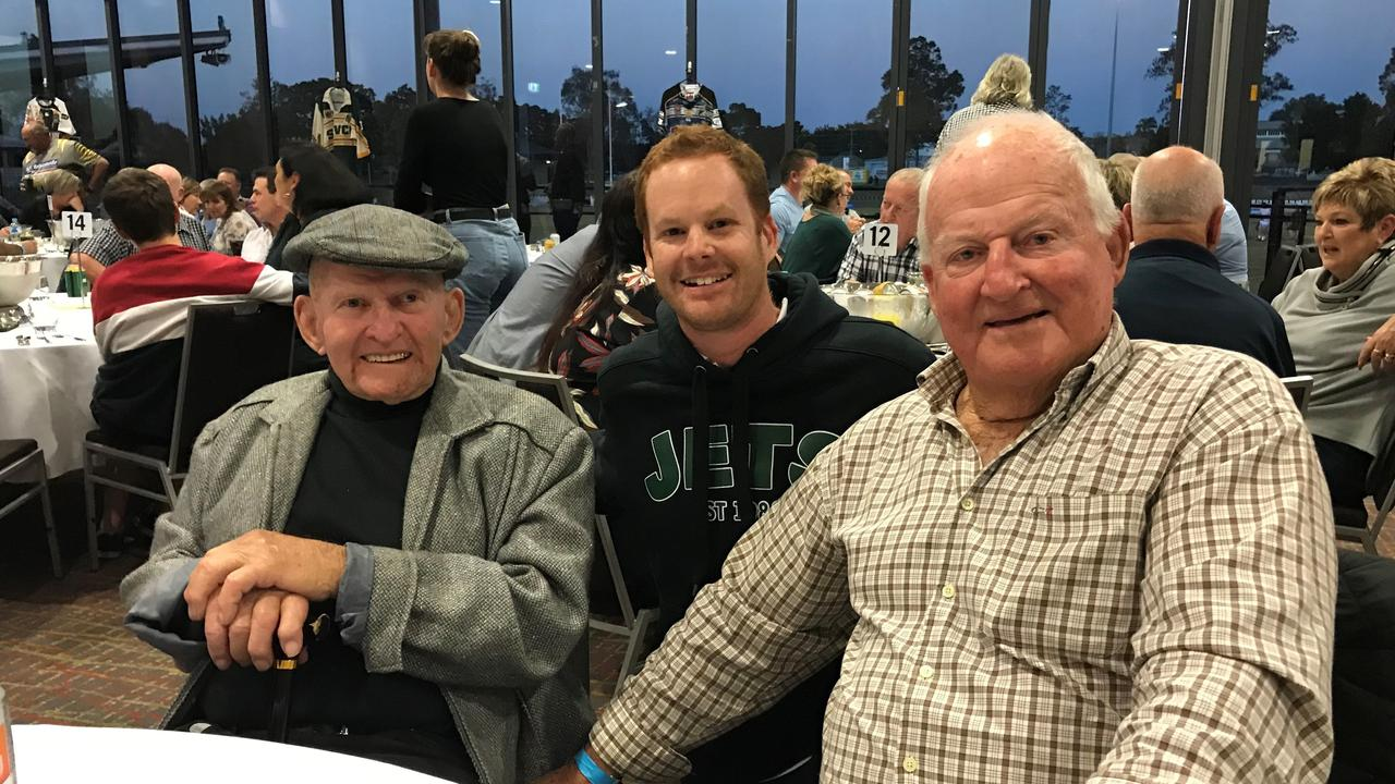 QT rugby league columnist Michael Nunn meets two of his footy heroes - Gary Parcell (left) and Noel Kelly at a Jets Old Boys function. Sadly, Gary and Noel passed away this year.