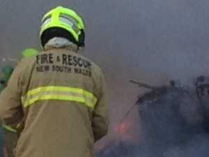 Caravan completely destroyed in Lismore blaze