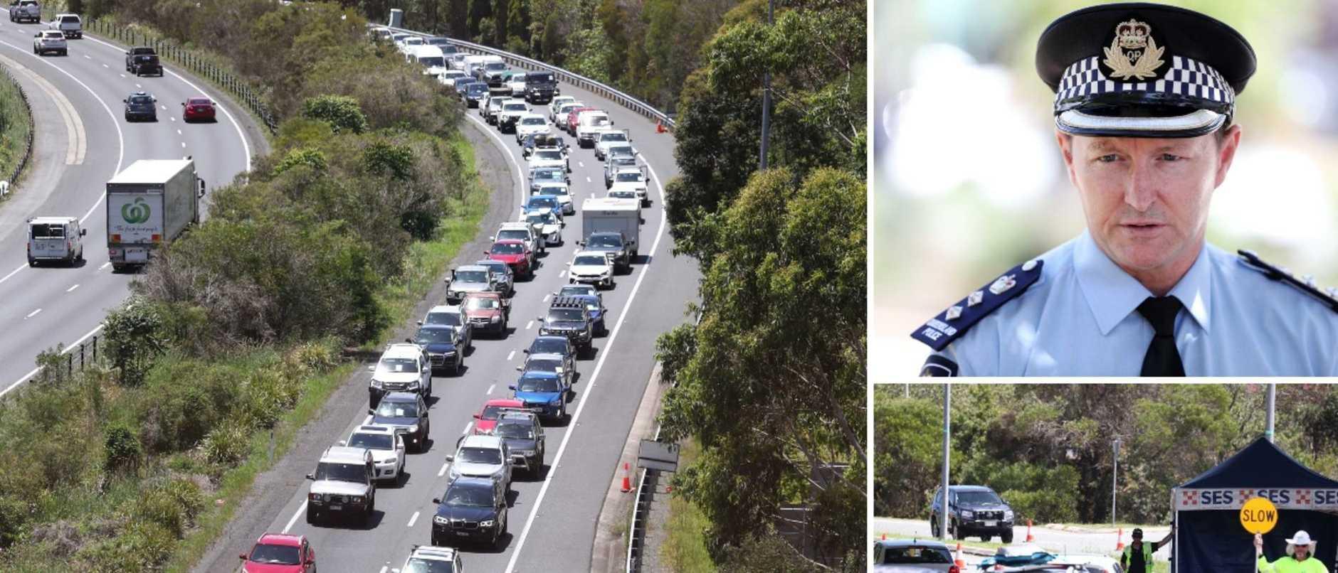 Border mayhem over NSW closure due to COVID.